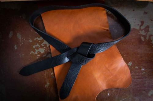 Cintura Donna Nodo Nera